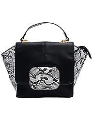Super Drool Crocodile Skin Print Hand Held Bag - B010HEWECA
