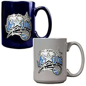NBA Orlando Magic Two Piece Ceramic Mug Set - Primary Logo by Great American Products