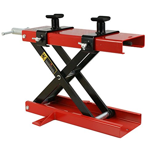 Super Deal 1100 LB Mini Scissor Lift Jack ATV Motorcycle Dirt Bike Scooter Crank Stand, Mini Hoist Lift Stand (Red) (Motorcycle Side Lift compare prices)