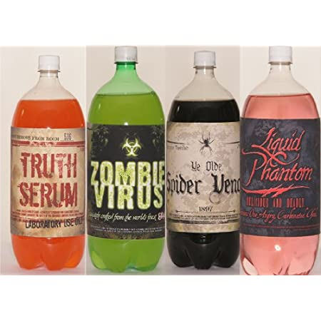 Includes Soda Bottle Stickers with different sayings. Bottles are not included.