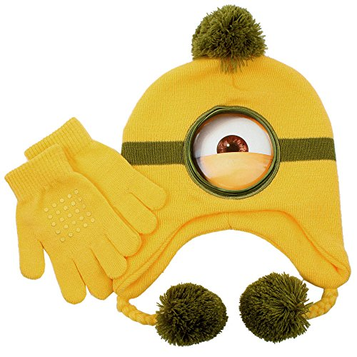 [Despicable Me Laplander Set - Natural Minion] (Despicable Me Minion Hats)