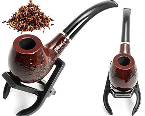 Tobacco Pipe Wooden Enchase Smoking Cigarettes Cigar Pipes Inside Filter Tip NEW (Vape Mod Washers compare prices)