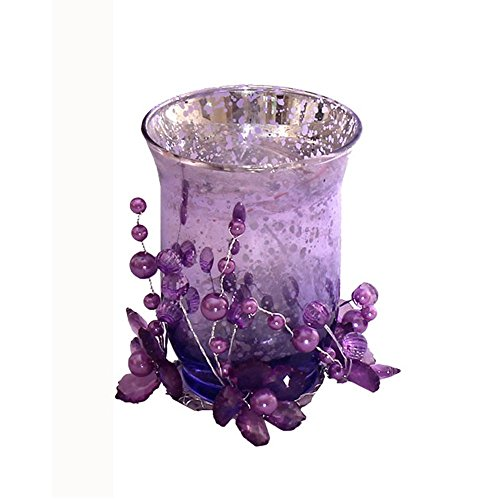 Devinez Decorative Scented Candles With Glass Holder, Purple