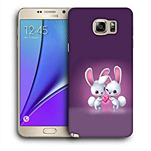 Snoogg White Rabbits Designer Protective Back Case Cover For SAMSUNG Galaxy NOTE 5