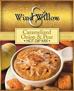 Wind and Willow Caramelized Onion & Pear Hot Dip Mix - 1.8 Ounce (4 Pack)