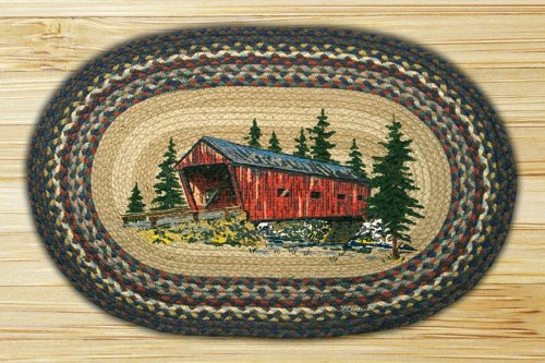 Capitol Importing 65-304CB Covered Bridge - 20 inch x 30 inch Oval Patch