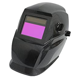 Antra AH5-350-001X Solar Power Auto Darkening Welding Helmet Carbon Fibre with AF350 Large Viewing Size 3.78\