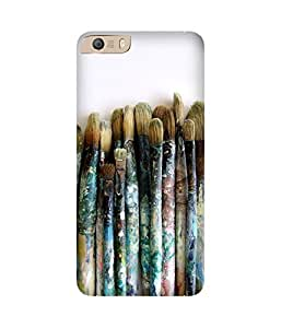 Brushes Printed Back Cover Case For Micromax Canvas Knight 2 E471