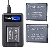 TOP-MAX 2X EN-EL19 Li-Ion Battery +