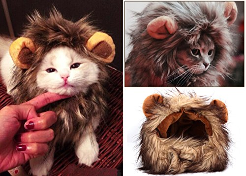 SmartSpeed® Lion Mane Wig Cat Puppy Hat Dress up Your Pets