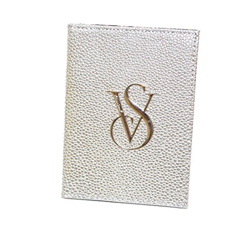 2015 Newest Fashion Crystal Victoria's Secret Leather Passport Holder ,Vs Traveling Passport Case (sliver)