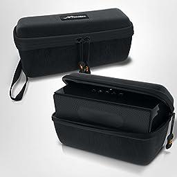 Portable Bluetooth Speaker Case, rooCASE EVA Travel Bag for Portable Bluetooth Speaker Size 7.3 x 2.4 x 2.8 inches