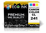 ECO INK Compatible / Remanufactured for Canon CL-241 CL 241 (1 Color) Ink Cartridges for PIXMA MG2120