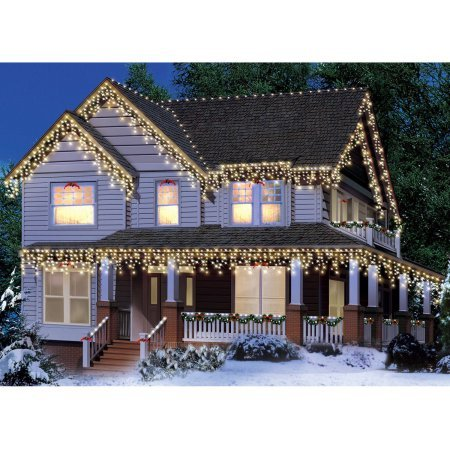 300 Count Indoor/Outdoor Icicle Christmas Lights Green Wire Clear (Christmas Lights Clear Green Wire compare prices)