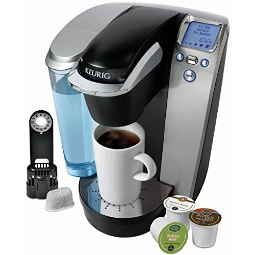Keurig K75 Platinum Single Cup Brewing System With 72 K-Cups, Reusable Coffee Filter And Water Filter