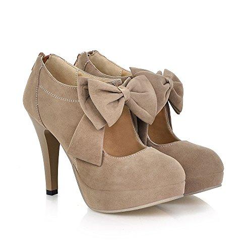 Fashion-Vintage-Womens-Small-Bowtie-Platform-Pumps-Ladies-Sexy-High-Heeled-Shoes