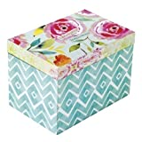 Santa Barbara Design Studios Stephanie Ryan Wooden Storage Box with Hinged Lid, Treasures and Inspirations