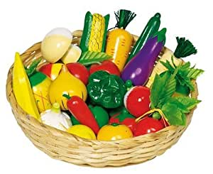 Goki WM592 - Obst und Gemüse, Kaufladen-Zubehör