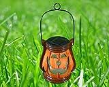 Pumpkin Ceramic Solar Powered Color Changing LED light Lantern