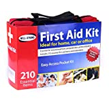 First Aid Kit 210 Pieces with Durable and Compact Canvas Bag for Home, Car, School, Office, Sports, Travel, Survival, Adventure, Marine, Outdoor Hiking and Camping