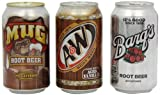 Mug Root Beer Variety Pack incudes 4 x Mug/4 x Barq's and 4 x Aandw (Pack of 12)
