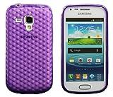 Luxburg� Diamond Design coque pour Samsung Galaxy S Duos en couleur Violet am�thyste , housse �tui case en silicon