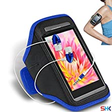 buy Lava Iris 405+ Blue + Earphone Adjustable Armband Sport Gym Bike Cycle Running Jogging Sports Case Cover Holder Pouch (Bb) With Premium Quality In Ear Buds Stereo Hands Free Headphones Headset With Built In Microphone Mic And On-Off By Shukan®