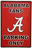 PARKING SIGN. UNIVERSITY OF ALABAMA CRIMSON TIDE 12X18 METAL PARKING SIGN at Amazon.com