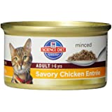 Hill's Science Diet Adult Optimal Care Savory Chicken Entree Minced Cat Food, 3-Ounce Can, 24-Pack