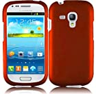 Cell Accessories For Less (TM) For Samsung Galaxy S III mini i8190 Rubberized Cover Case - Orange + Bundle (Stylus & Micro Cleaning Cloth) - By TheTargetBuys