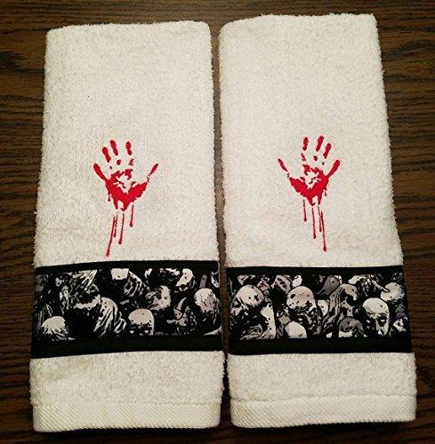 Zombie Bathroom White Hand Towel Set