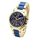 JSDDE Uhren,XL Gold Herren Chrono Business Armbanduhr Drei...