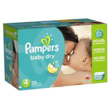 Pampers Baby Dry Diapers Economy Pack (Size 4, Pack of 128)