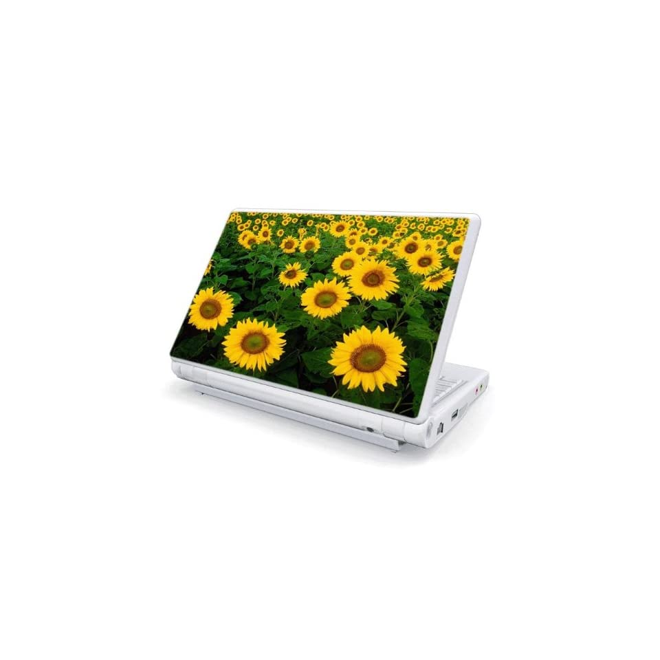 Sun Flowers Decorative Skin Cover Decal Sticker for MSI Wind U100 Netbook Laptop