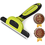 Pet Grooming Tool & Shedding Brush - BEST For All Dogs & Cats, Large or Small, Short to Long Hair, Reduces Shedding While Promoting a Healthy Coat -Comfy Handle-Makes A Great Gift -Lifetime Guarantee