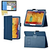 Sleek Gadgets® - Blue Leather Wallet Case Cover with Screen Protector for Samsung Galaxy Tab Pro 10.1 Tablet