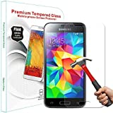 PThink® 0.3mm Ultra-thin Tempered Glass Screen Protector for Samsung Galaxy S5 mini with 9H Hardness/Anti-scratch/Fingerprint resistant (Samsung Galaxy S5 mini)
