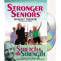 Stronger Seniors® Chair Exercise Program- 2 disc Chair Exercise Program- Stretching Aerobics Strength Training and Balance. Improve flexibility muscle and bone strength circulation heart health and stability. Developed by Anne Pringle Burnell