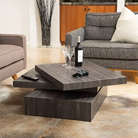 Christopher Knight Home Carson Rotating Wood Coffee Table