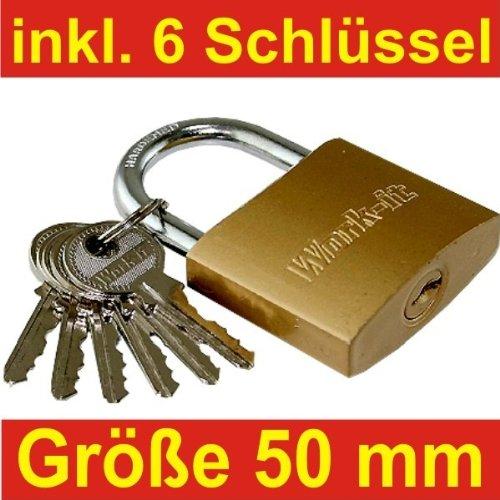 Vorhängeschloss 50mm 6Schlüssel Schloss