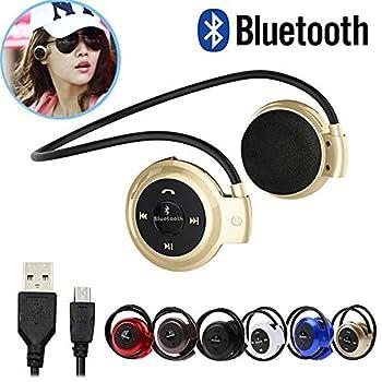 サムスンiPhone LG用 ミニ503ワイヤレス Bluetoothマイクステレオヘッドホン イヤホン 英語の説明書付く レッド