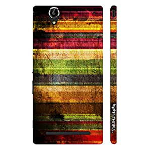 Sony Xperia T3 STRIPEY GRUNGE designer mobile hard shell case by Enthopia