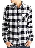 (アーケード) ARCADE 15color メンズ ネルシャツ 選べる 無地 チェック柄 長袖 シャツ ネルチェックシャツ M チェック【A-1】