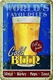 ビール Cold Beer / ブリキ看板 TIN SIGN