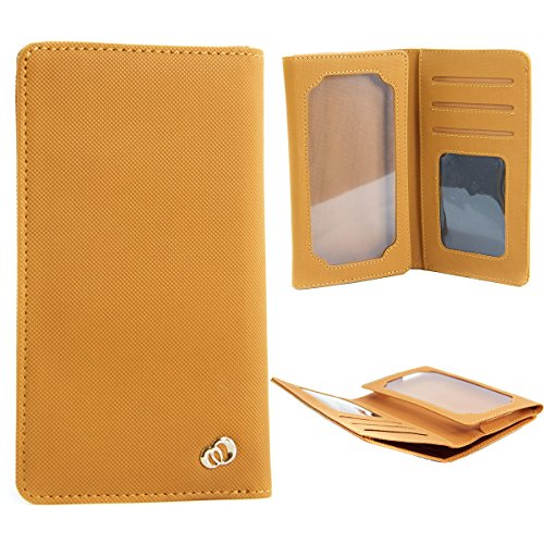 Bi-fold Univeral Textured Men's Wallet Case Fits LG E980, E985, E985T, E986, E988 ,E989, F240K, F240L Optimus G Pro 5.5 4G LTE ::TAN:: (Lg G Pro E986 compare prices)