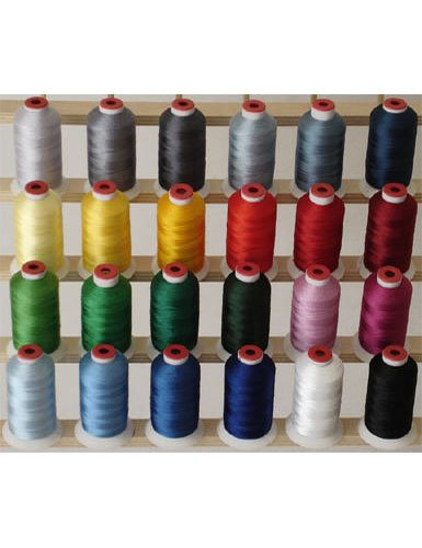 24-cone Polyester Embroidery Thread Kit - 24 Winter colors - 1100 yards - 40wt