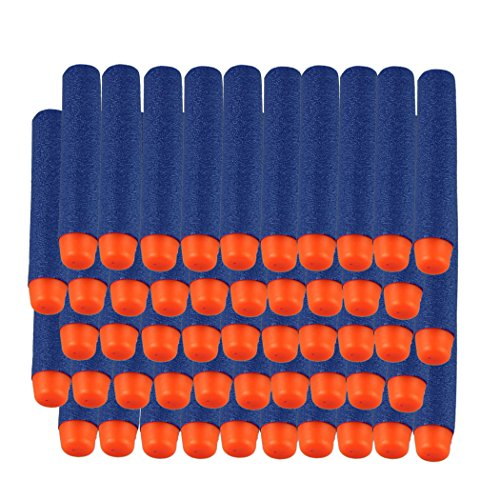 Voberry alta calidad 50Pcs niños táctico armas NERF pistola espuma bala Blasters recarga Clip dardos juguete del niño