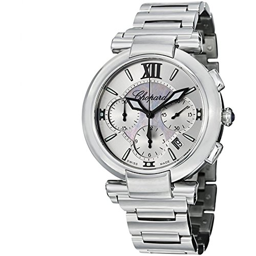 Chopard Women's 40mm Steel Bracelet & Case Automatic MOP Dial Chronograph Watch 388549-3002