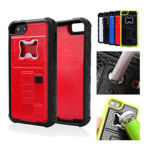 Labato® Multifunctional With Cigarette Lighter & Bottle/Beer Opener Case Cover For Iphone 5/5S - Full Protection Case Cover With Built-In Trademarked Electronic Usb Rechargeable No-Flame Cigarette Lighter/Bottle Beer Opener/ Camera Stable Tripod Plastic H