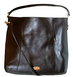 Coach Pebbled Leather Hobo Shoulder Handbag 34511